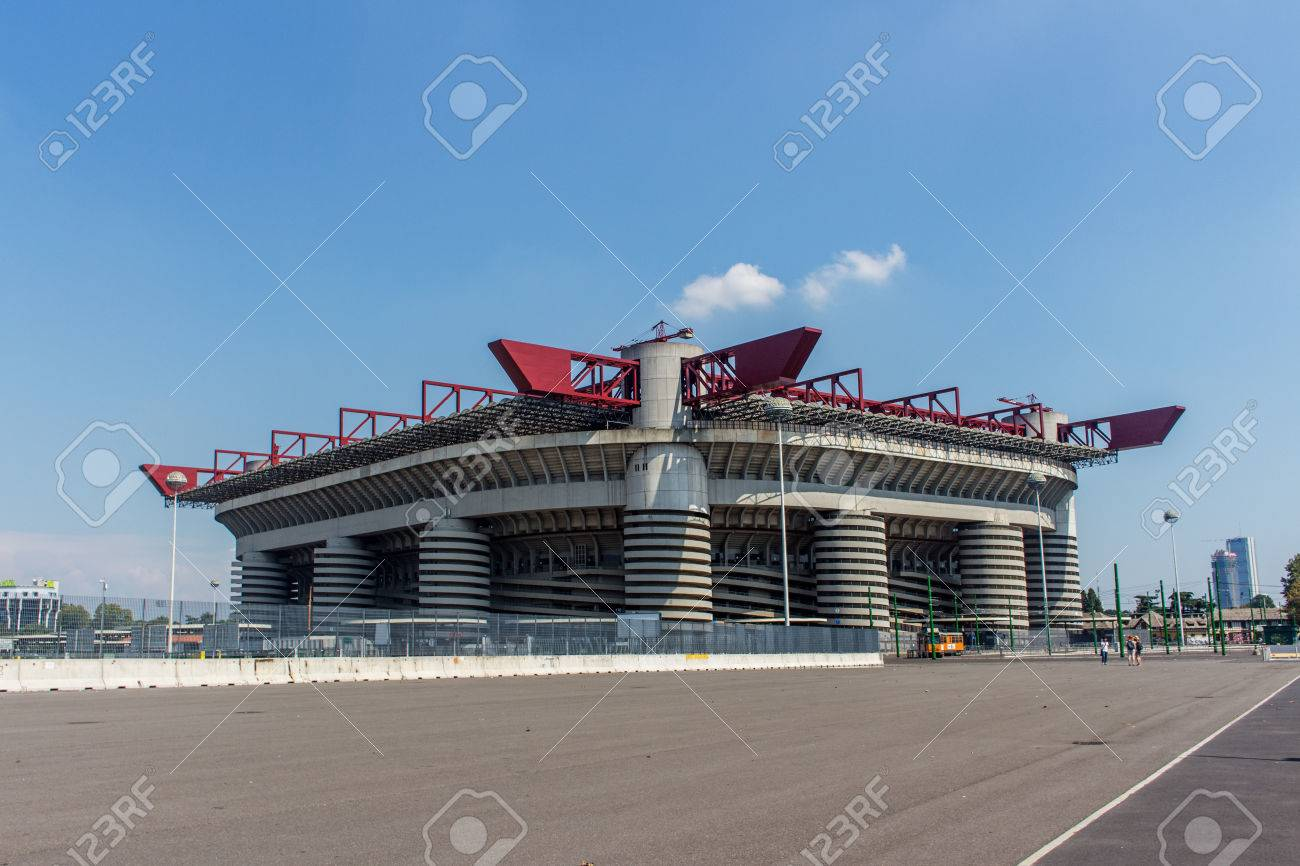 San Siro Giuseppe Meazza Italy Stock Picture And Royalty