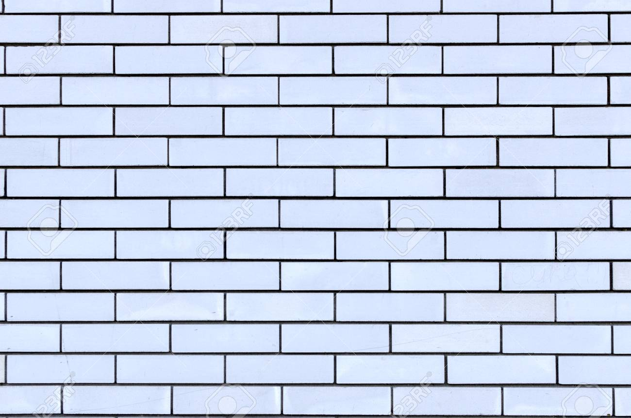 Uniform Background Of Gray Brick Wall Clear Lines