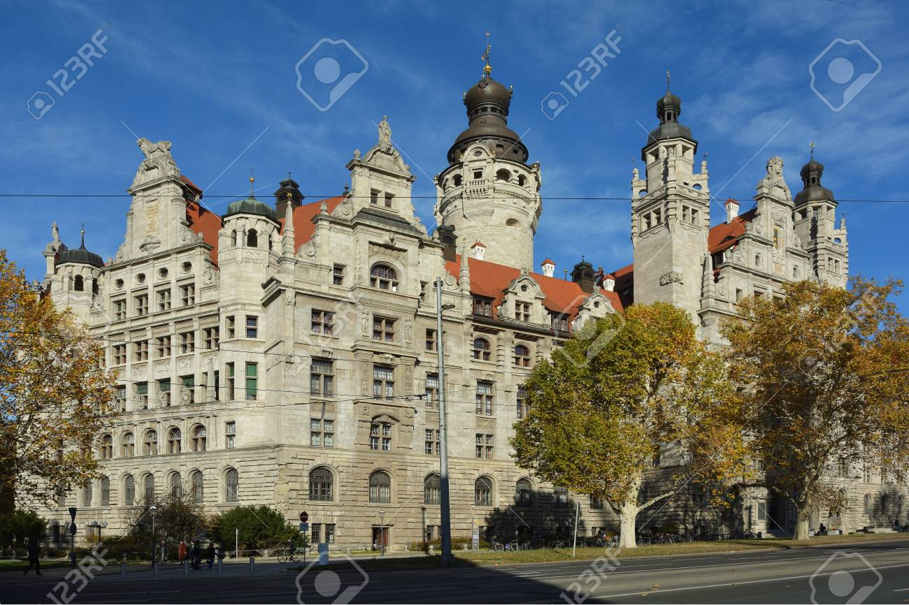 New Town Hall In The Saxon City Leipzig Germany Stock Photo Picture And Royalty Free Image Image 113620272