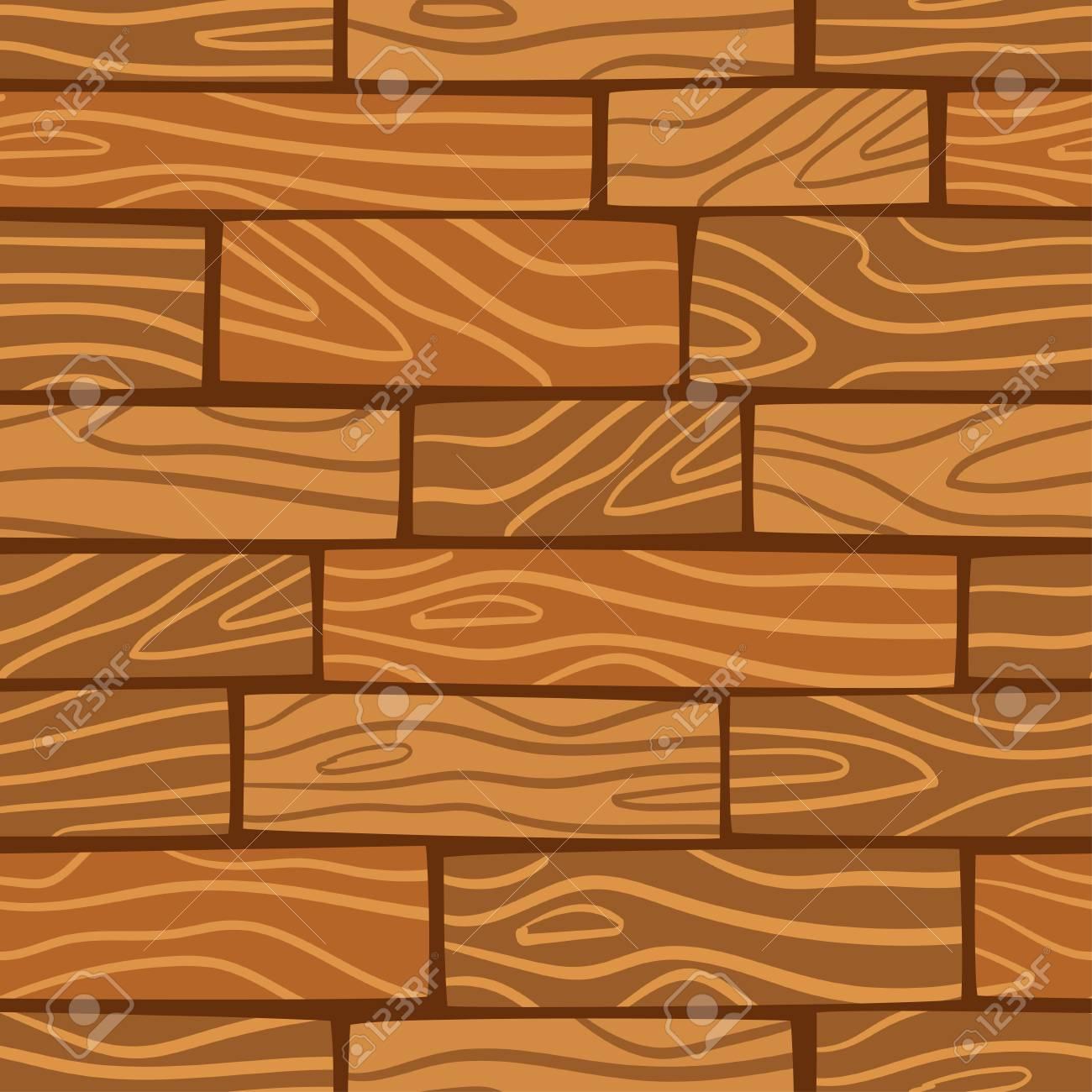Fond De Texture En Bois Modèle Sans Couture De Vecteur Planches En Bois De Dessin Animé