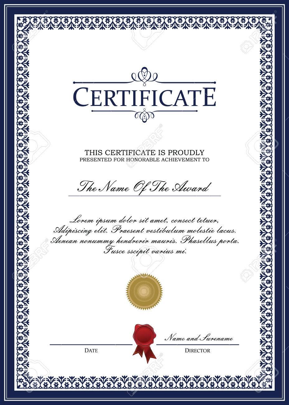Ungewöhnlich Exzellenz Award Vorlage Ideen - Entry Level Resume ...