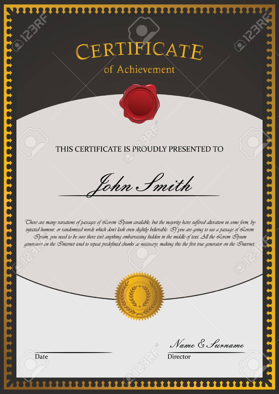 100 academic achievement certificate template graduate academic achievement certificate template certificate template vector royalty free cliparts vectors and yadclub Gallery