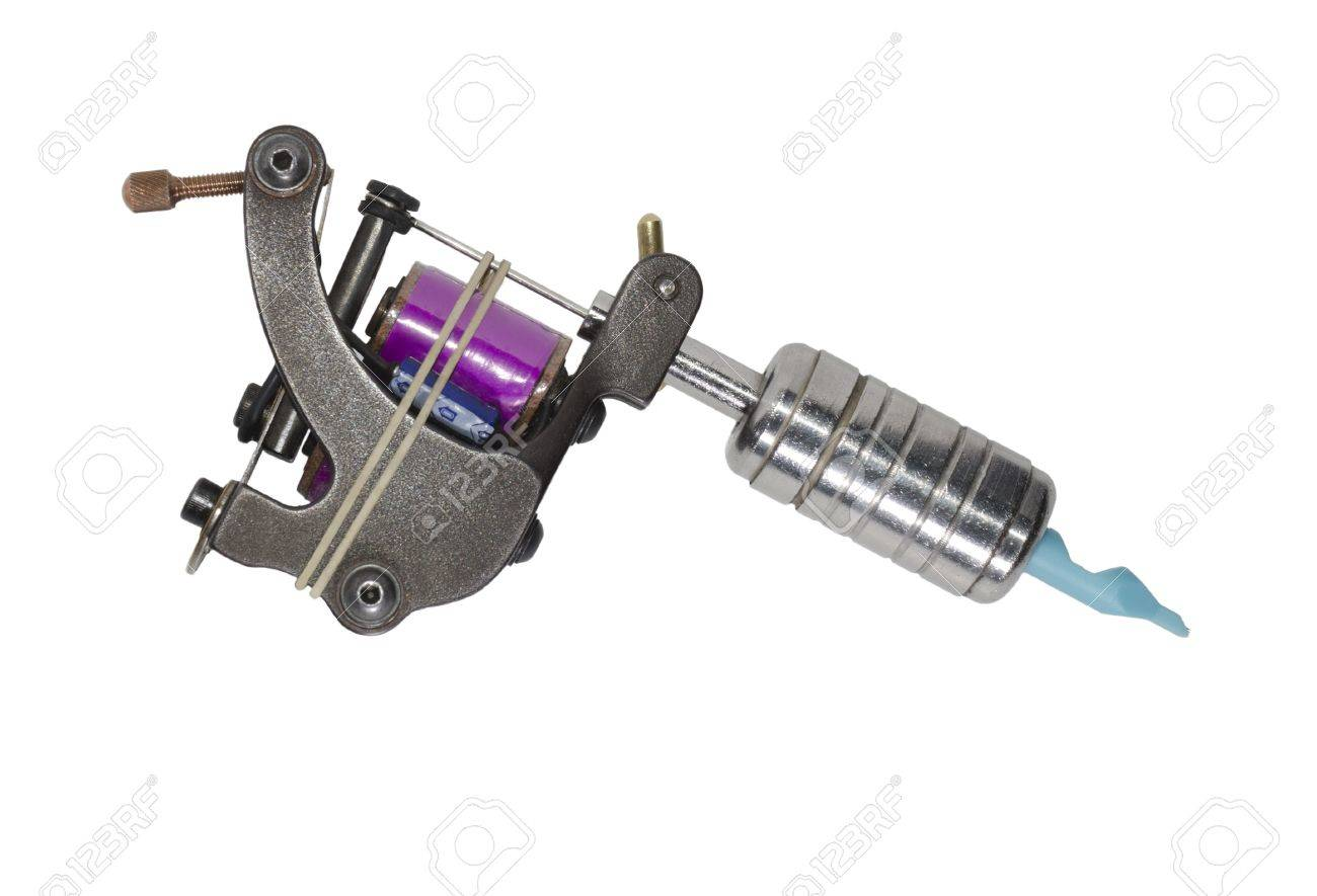 Tattoo Machine Fully Assembled Ready For Use Stock Photo, Picture ...