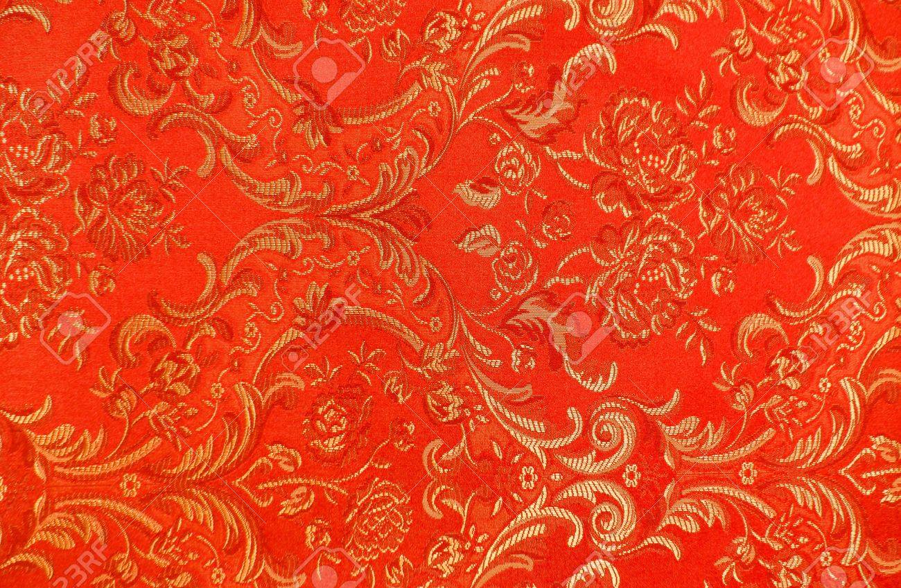 High Resolution Floral Pattern On The Fabric In The Victorian