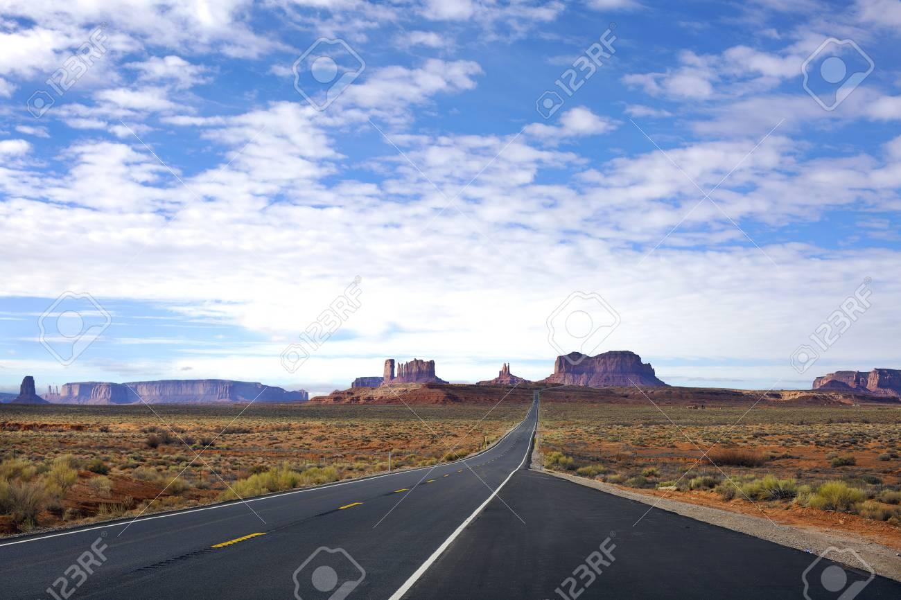 Panoramic view of Entrance to Monument Valley . Arizona, USA - 117457605