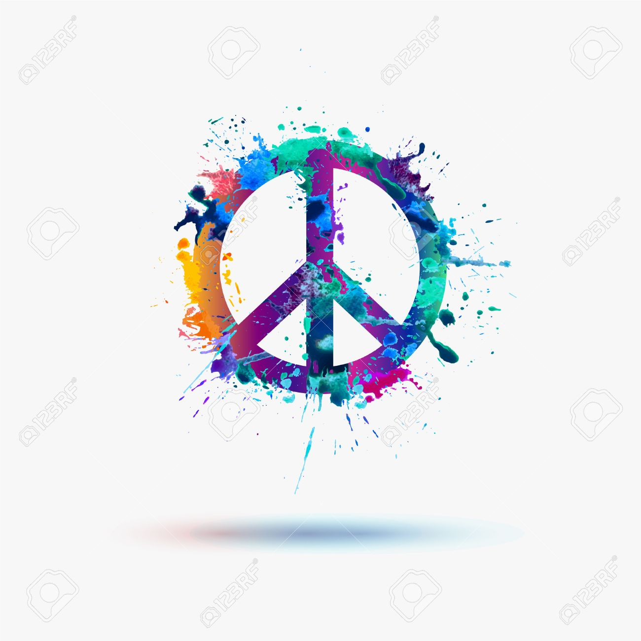 Vector peace symbol in watercolor splashes royalty free cliparts vector peace symbol in watercolor splashes stock vector 41983265 biocorpaavc Images