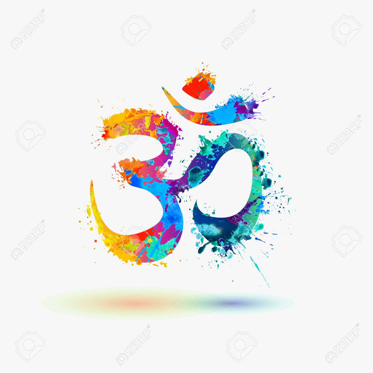 Om Hindu Lucky Symbol Royalty Free Cliparts Vectors And Stock