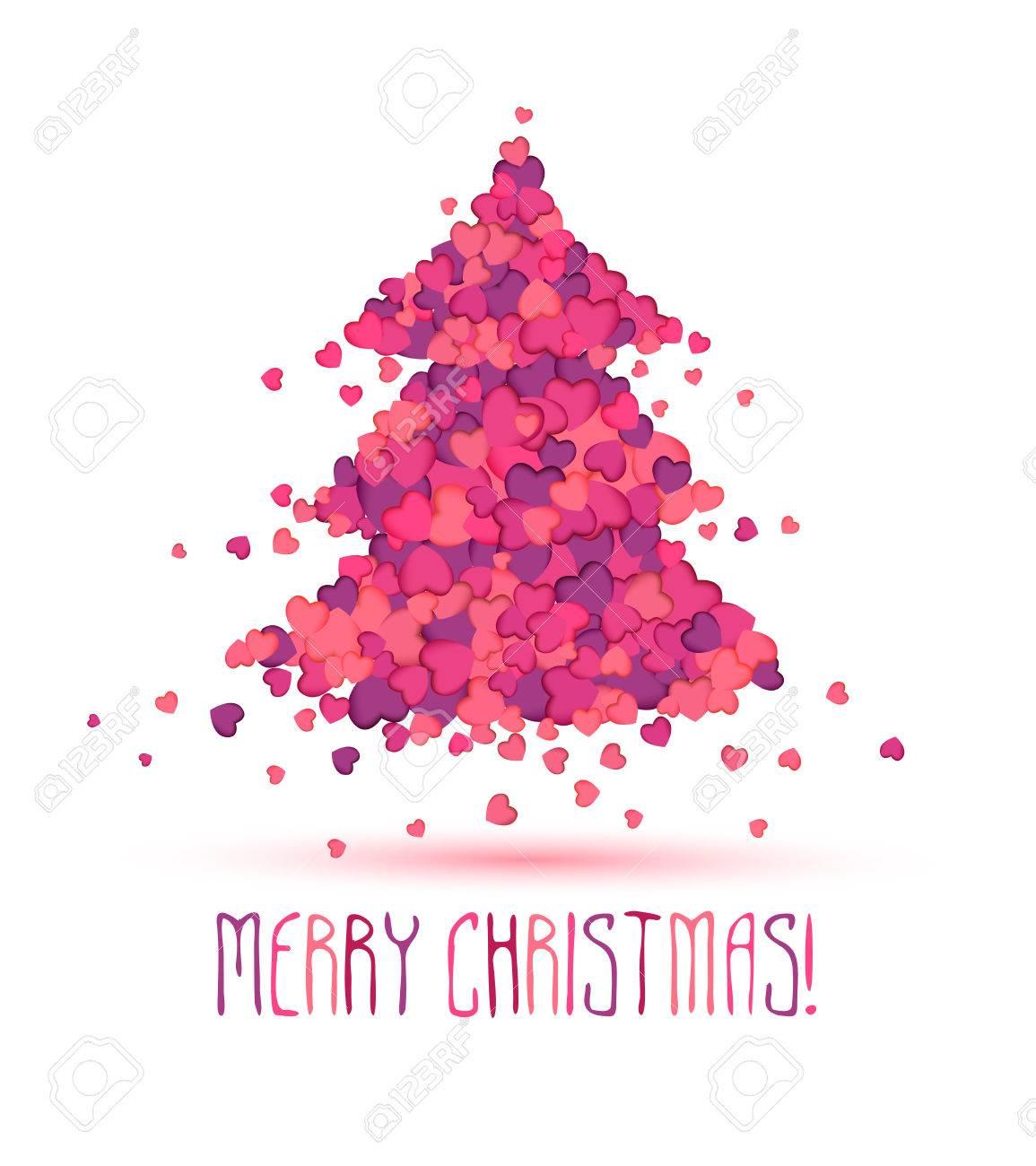 Christmas Beauty Salon.Beauty Salon Holiday Congratulation Card Christmas Tree Of