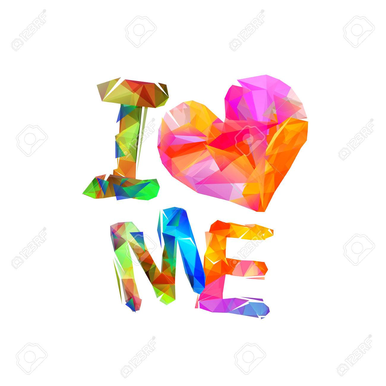 Multicolored i love me quote isolated. - 84158559