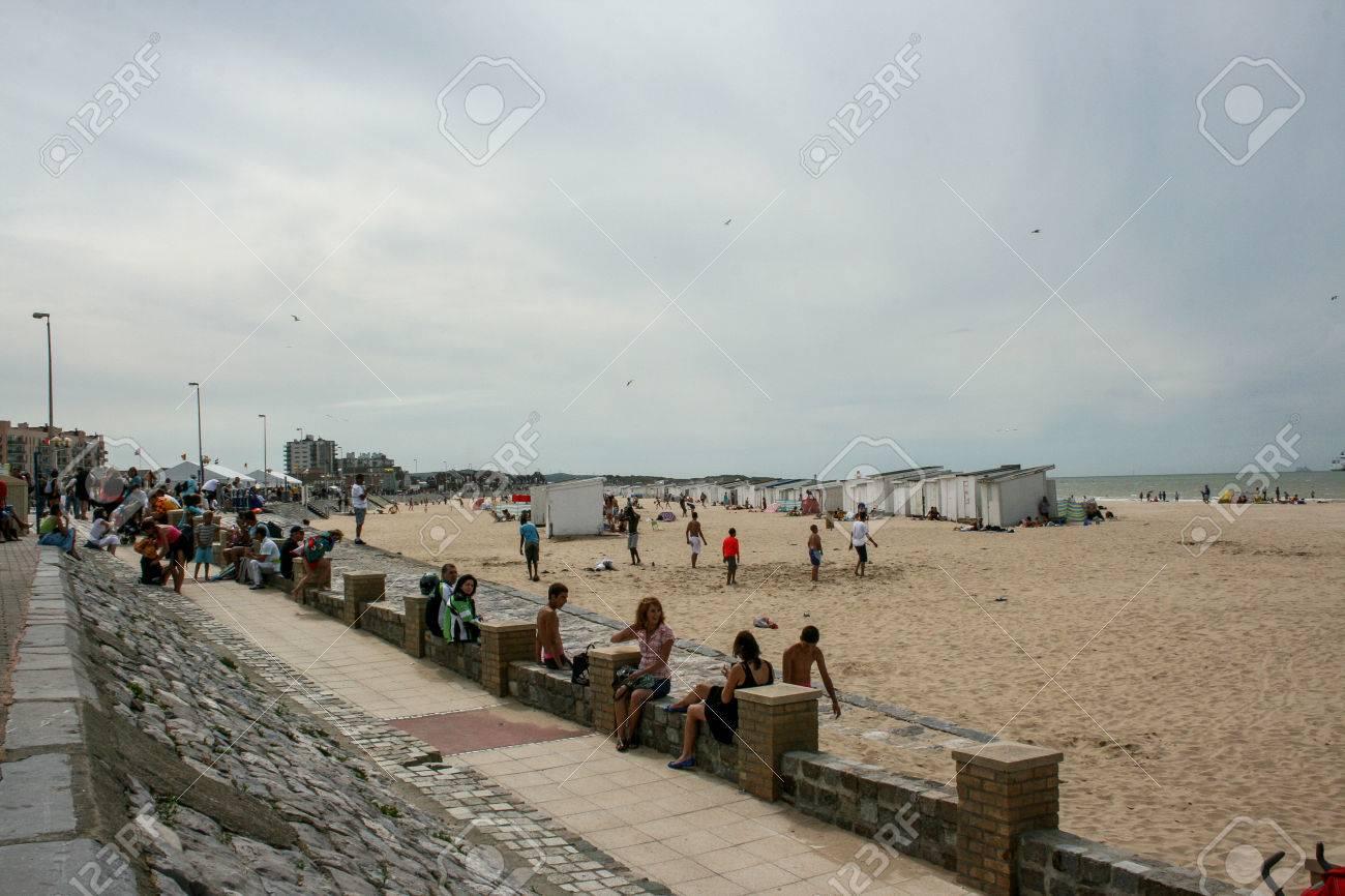 Calais port beach