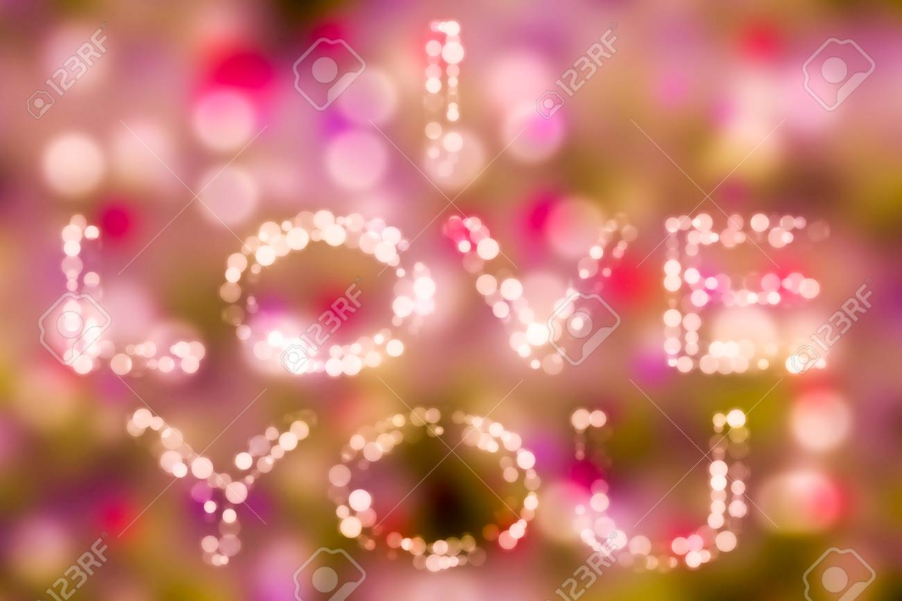 Love theme concept bokeh bacground i love you Valentine's background and love theme. - 89778270