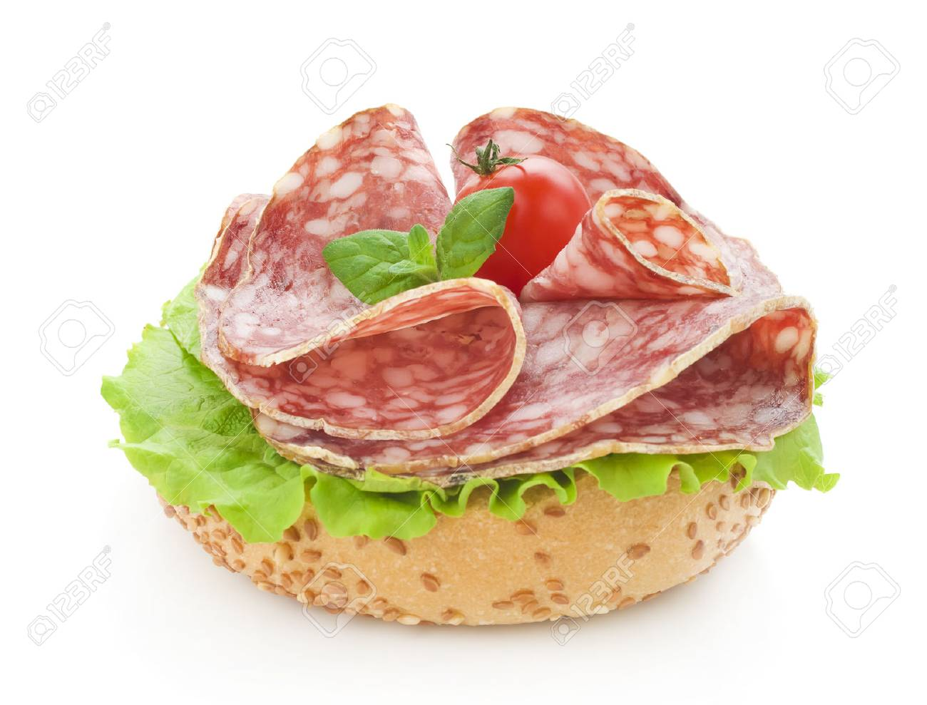 salami and lettuce - 25201472