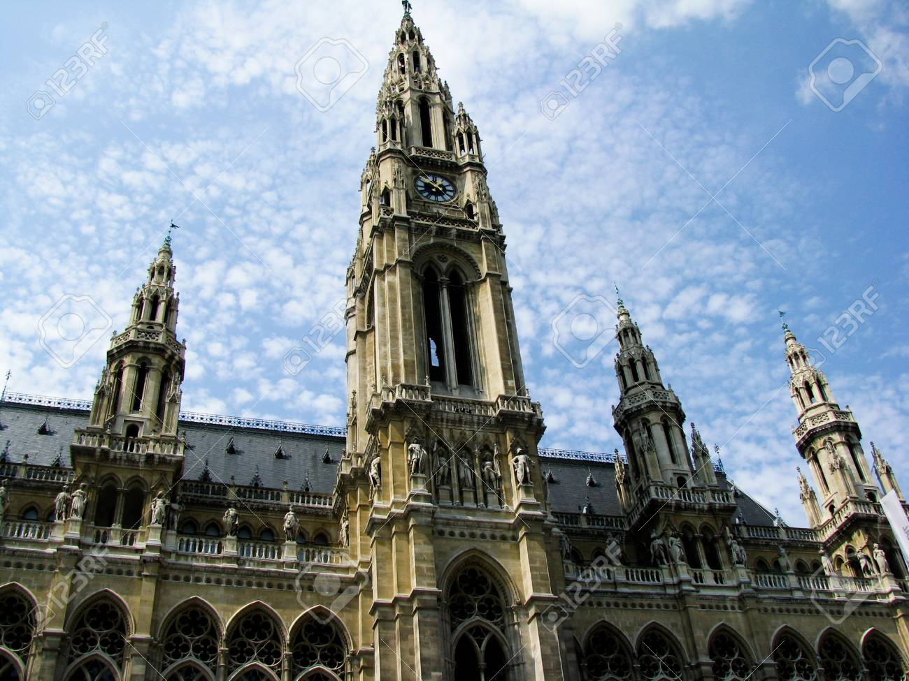 City Hall in Vienna - a famous architectural site of Austria. Stock Photo - 11879251