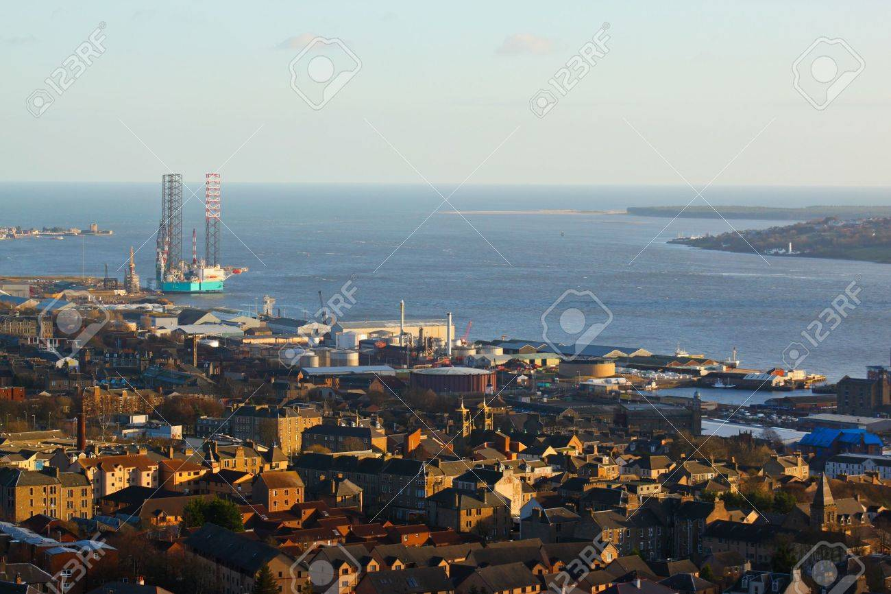 The city of Dundee from the summit of Dundee Law - 12980979