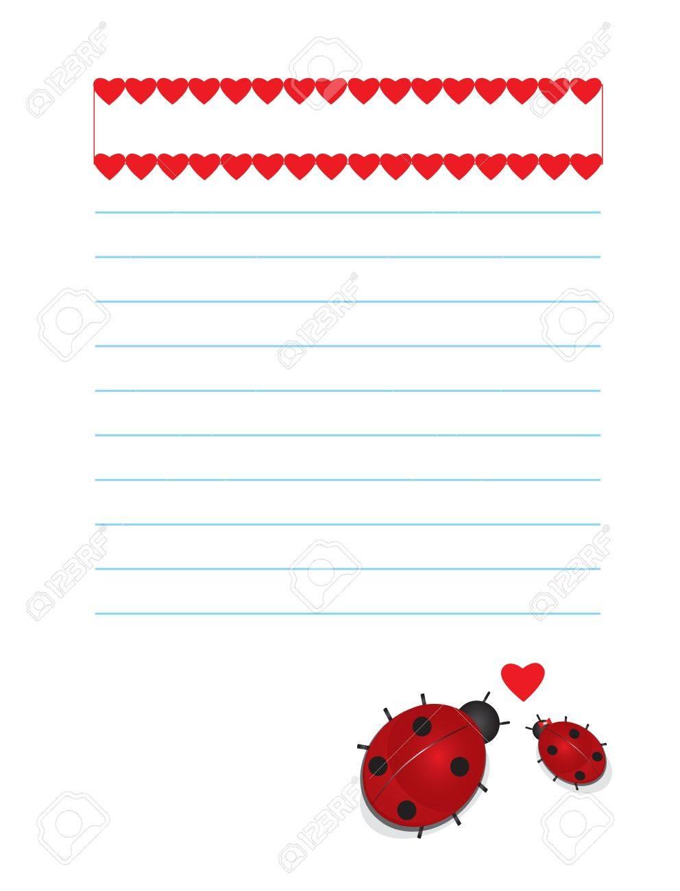Valentines background ladybugs Stock Vector - 17334659