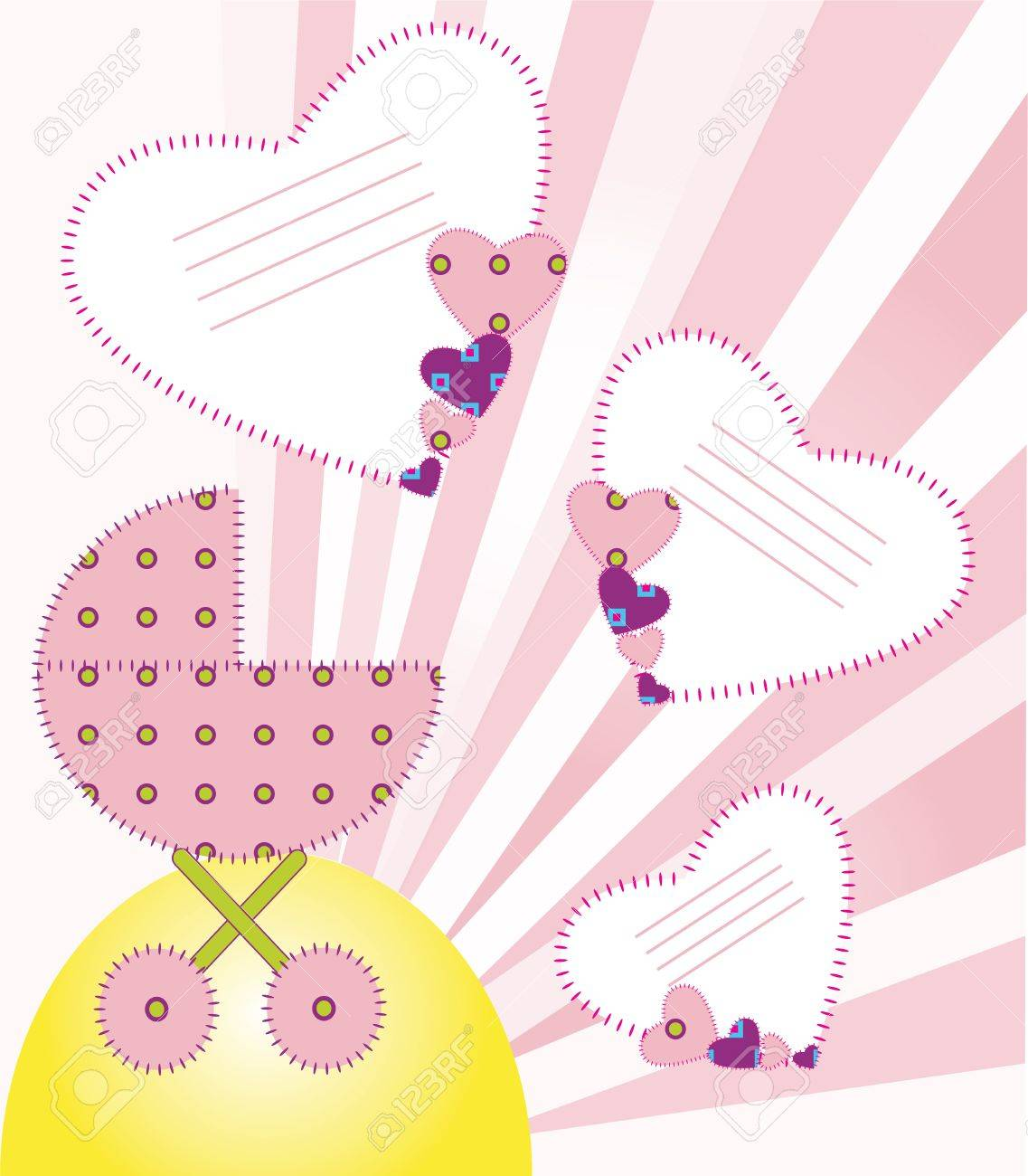 It s a girl  Background a newborn baby Stock Vector - 17442003
