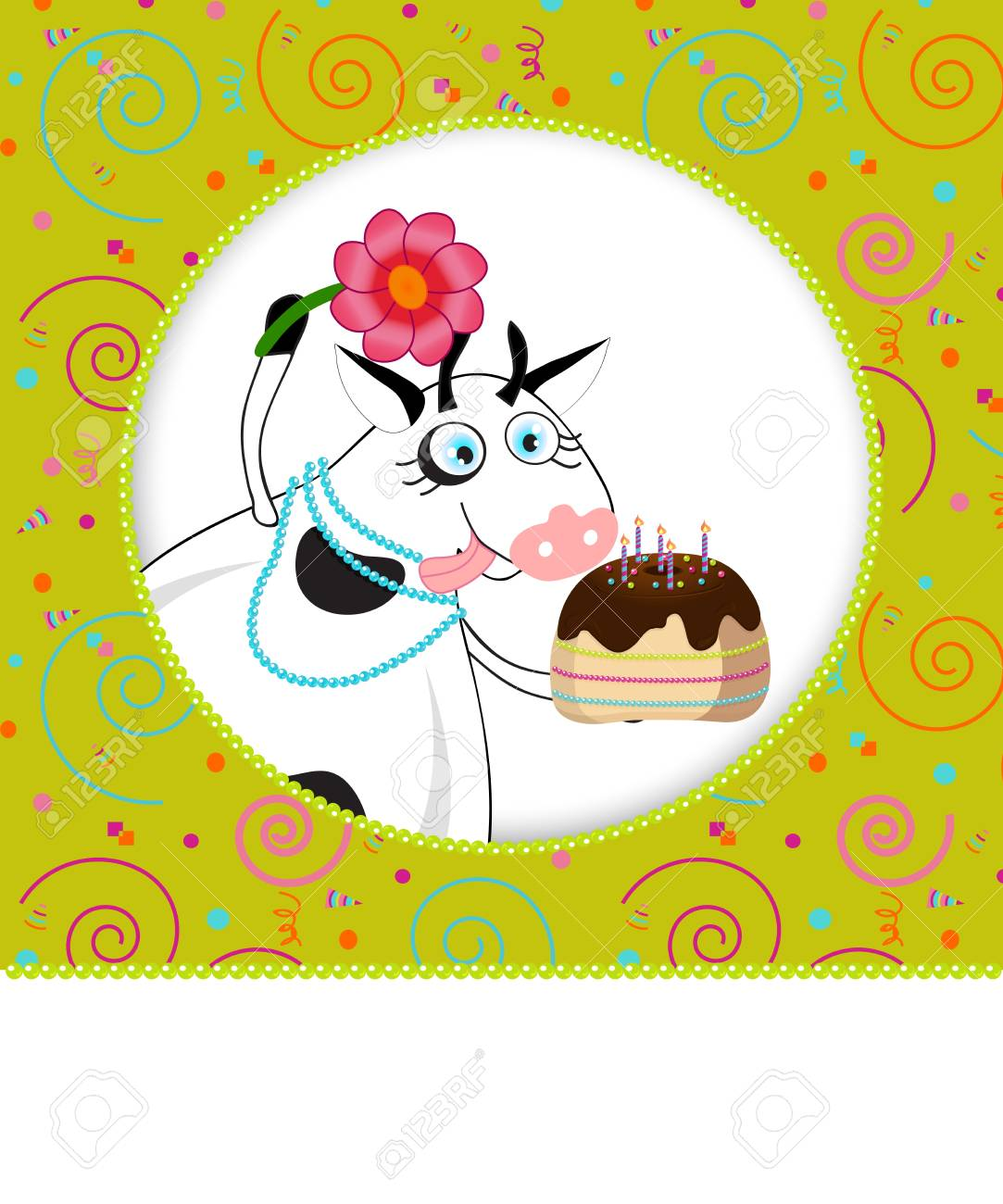 Birthday card I carnival background and a cake Stock Vector - 17981991