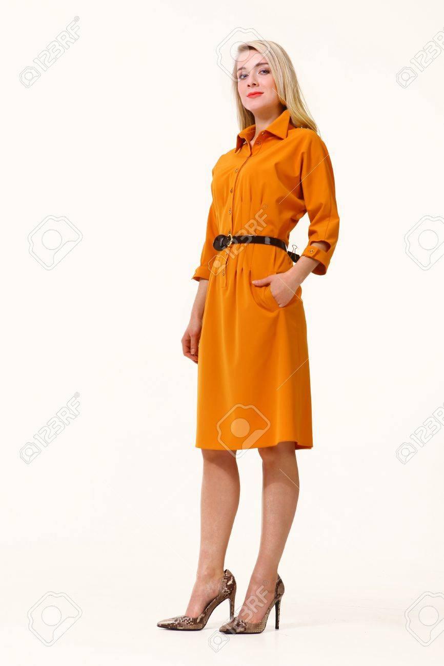 Casual Summer Orange Dress