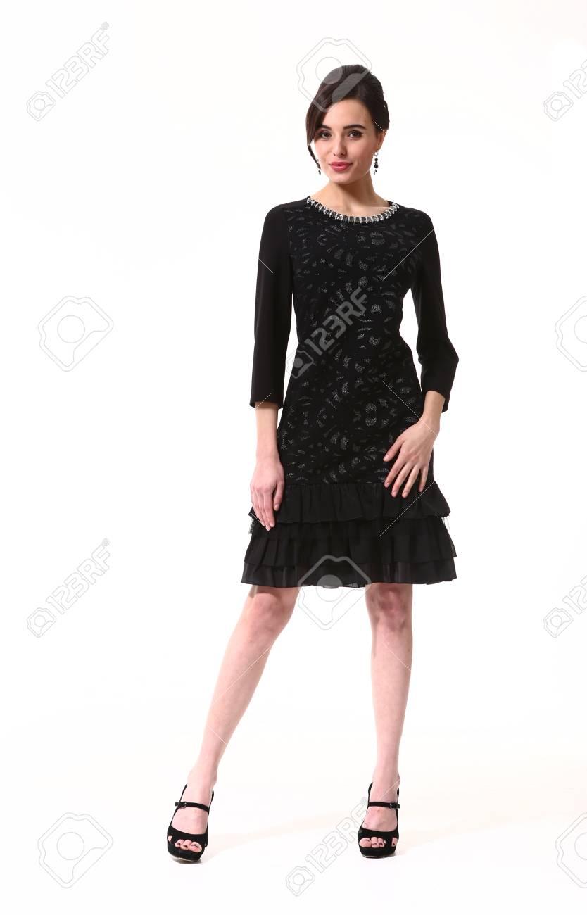Photo Blanc Formelle Chaussures Robe Isolé Noire Mode En De Femme Hauts À Indienne Sur Petite Talons Pleine Corps D'affaires kOPuXZi