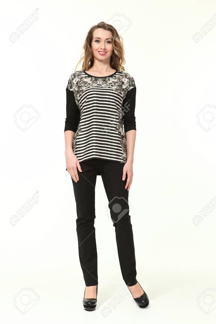 blouse in broek vrouw
