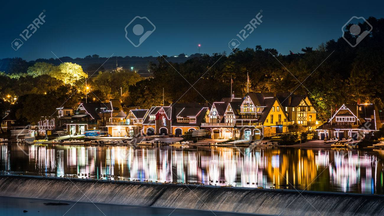 PHILADELPHIA - OCTOBER 2 Boathouse Row By Night Taken From Spring ...