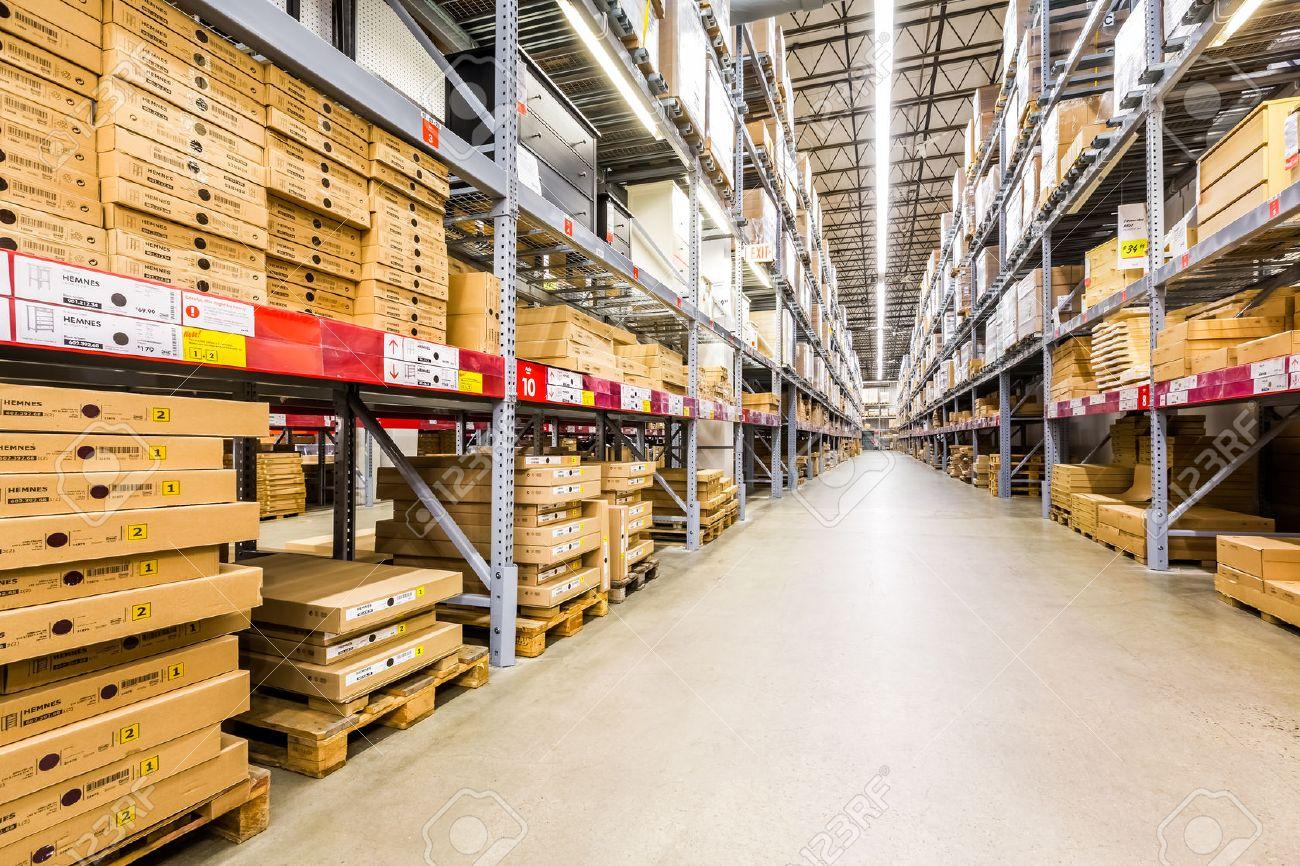 Warehouse Aisle In An Ikea Store Founded In 1943 Ikea Is The  # Muebles Vestibulo Ikea