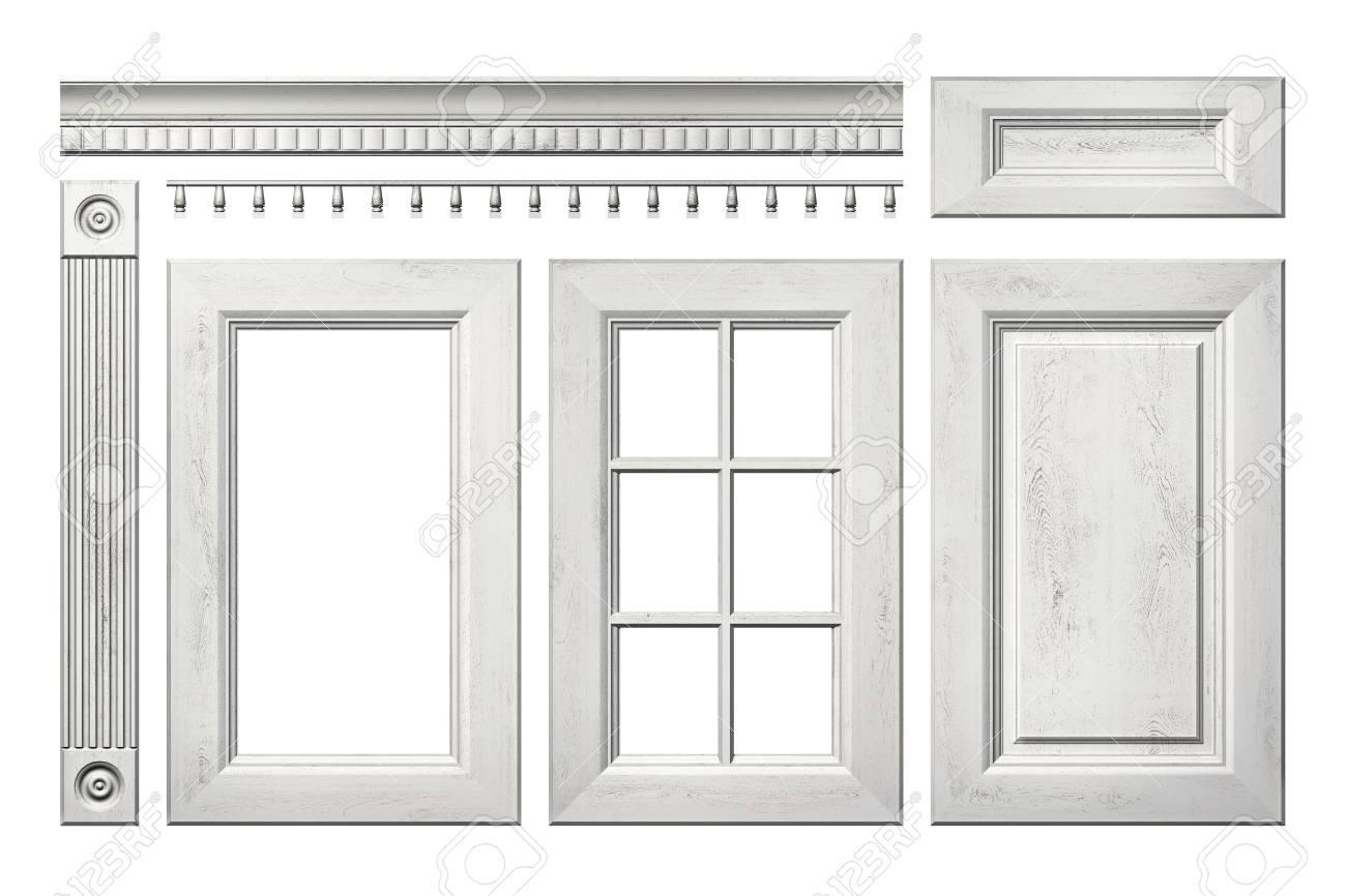 f0783bd8d80f Colección delante de la antigua puerta de madera, cajón, columna, cornisa  de armario