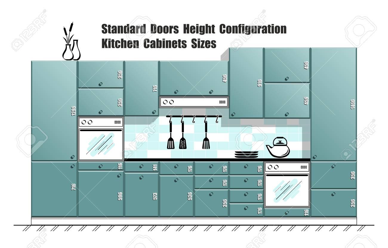 Dimensioni Standard Tavolo Cucina tavolo grafico con dimensioni standard delle porte, piani per mobili da  cucina