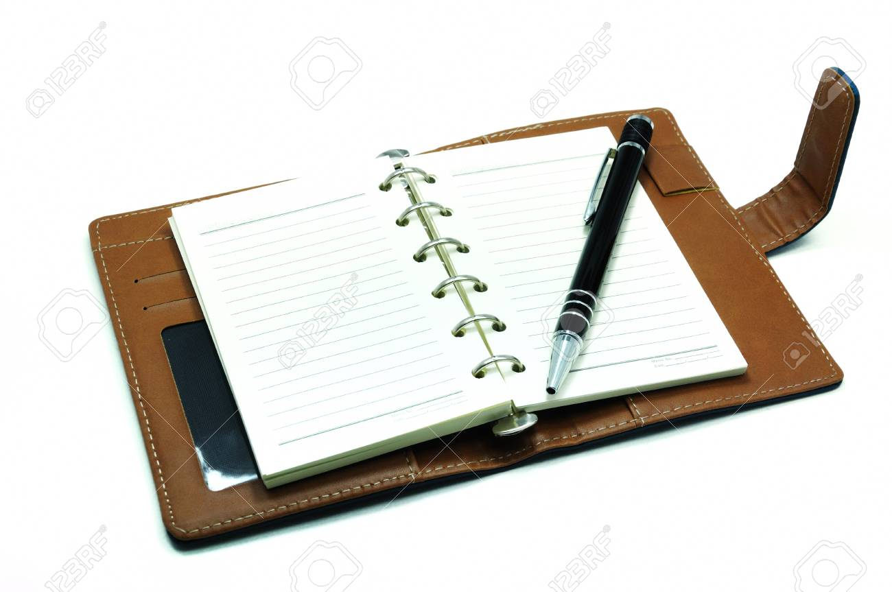 Notebook and pen isolated on white background Stock Photo - 8794223
