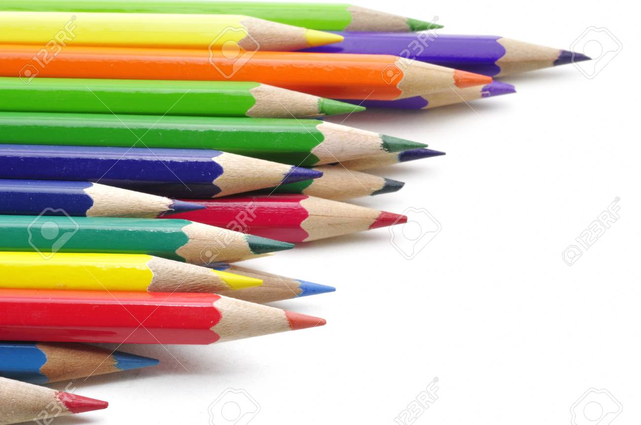 color pencils isolated on white background Stock Photo - 15219255