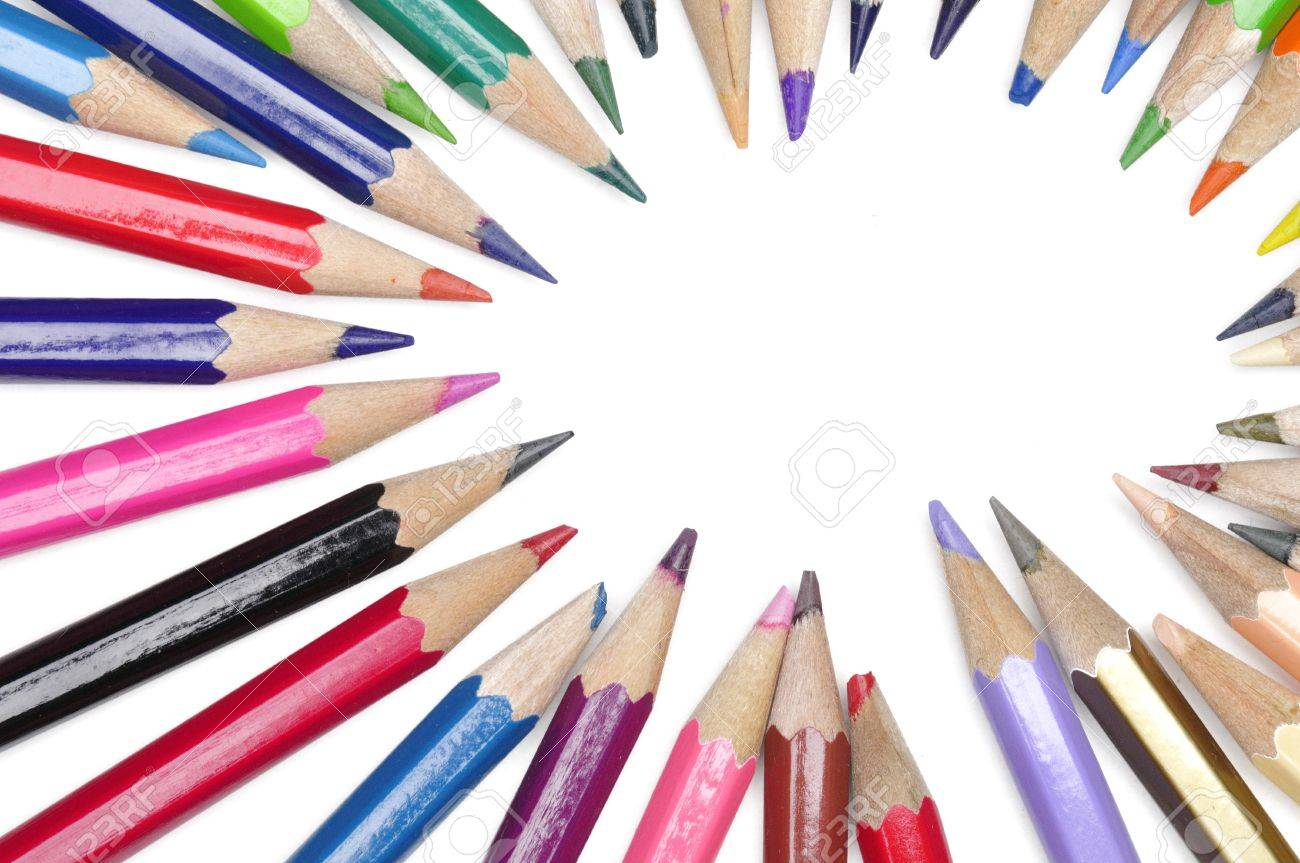color pencils isolated on white background Stock Photo - 15219284