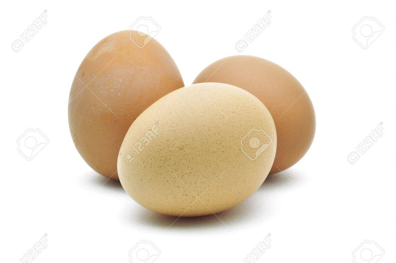 eggs are isolated on a white background Stock Photo - 15219238