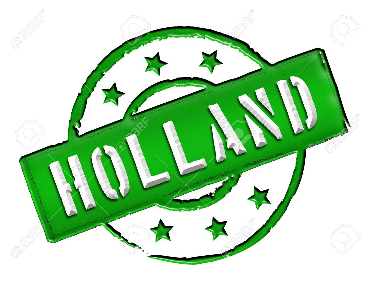 Sign and stamp named HOLLAND for your presentation, for websites and many more Stock Photo - 13313636
