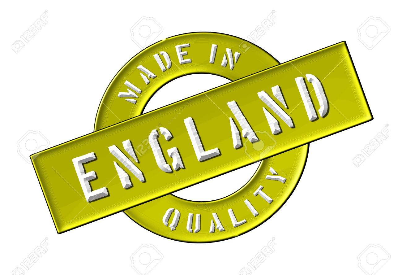 Made in England - Quality seal for your website, web, presentation Stock Photo - 13339098