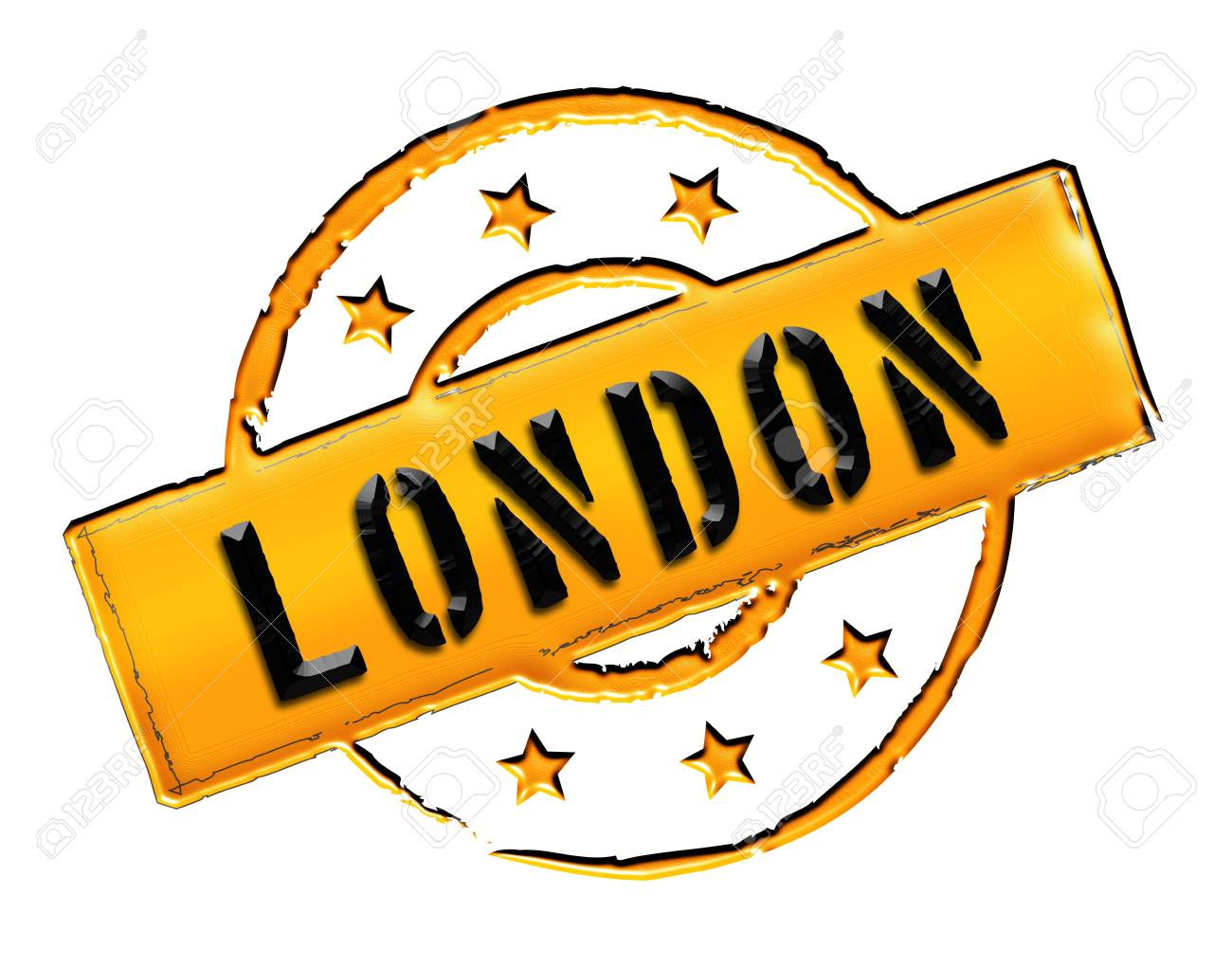 Sign and stamp for your presentation, for websites and many more named LONDON Stock Photo - 13424461