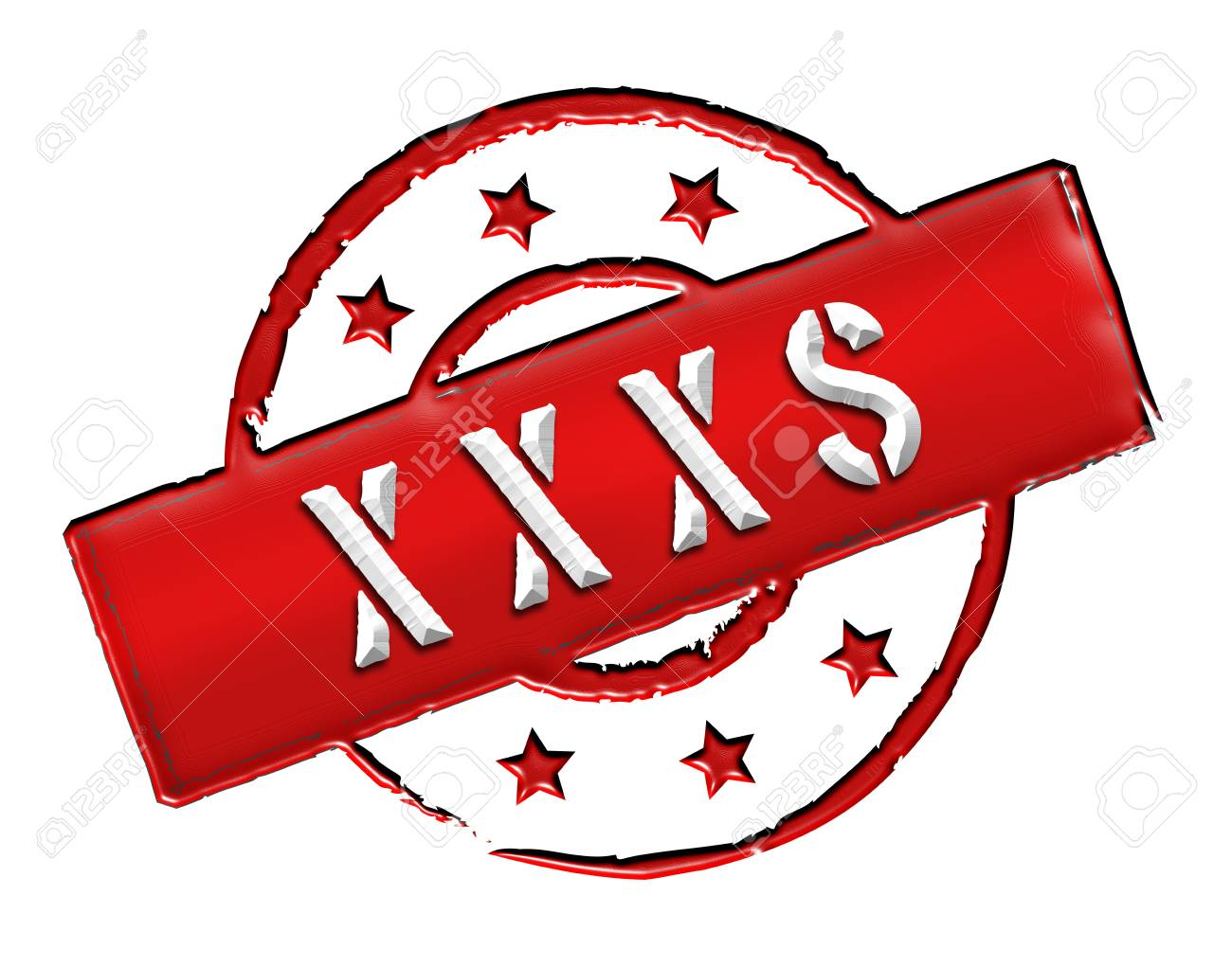 Sign, symbol, stamp or icon for your presentation, for websites and many more named XXXS Stock Photo - 13802149