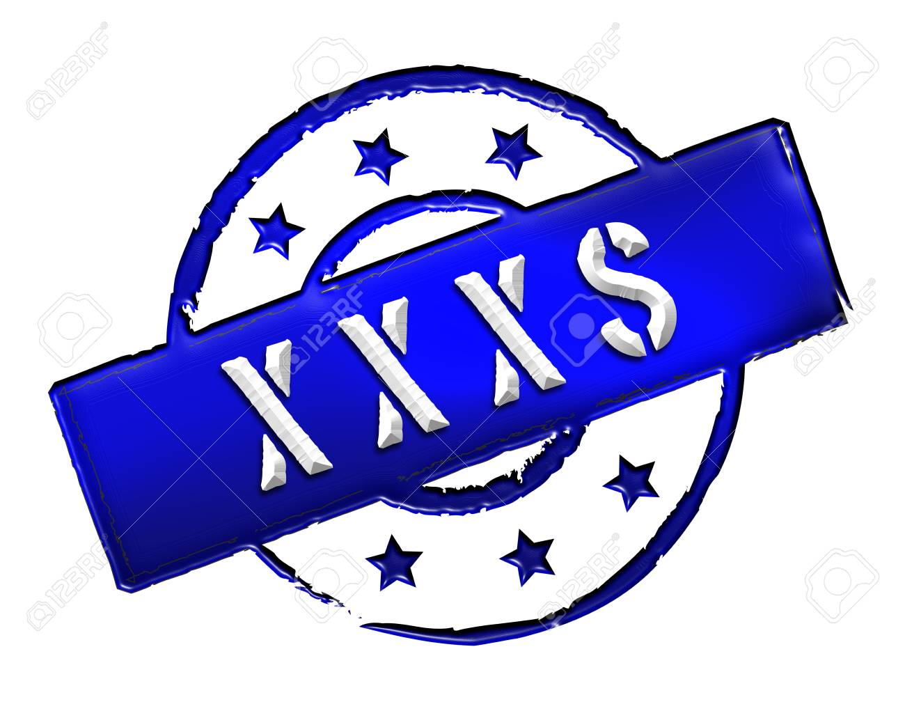 Sign, symbol, stamp or icon for your presentation, for websites and many more named XXXS Stock Photo - 13802104