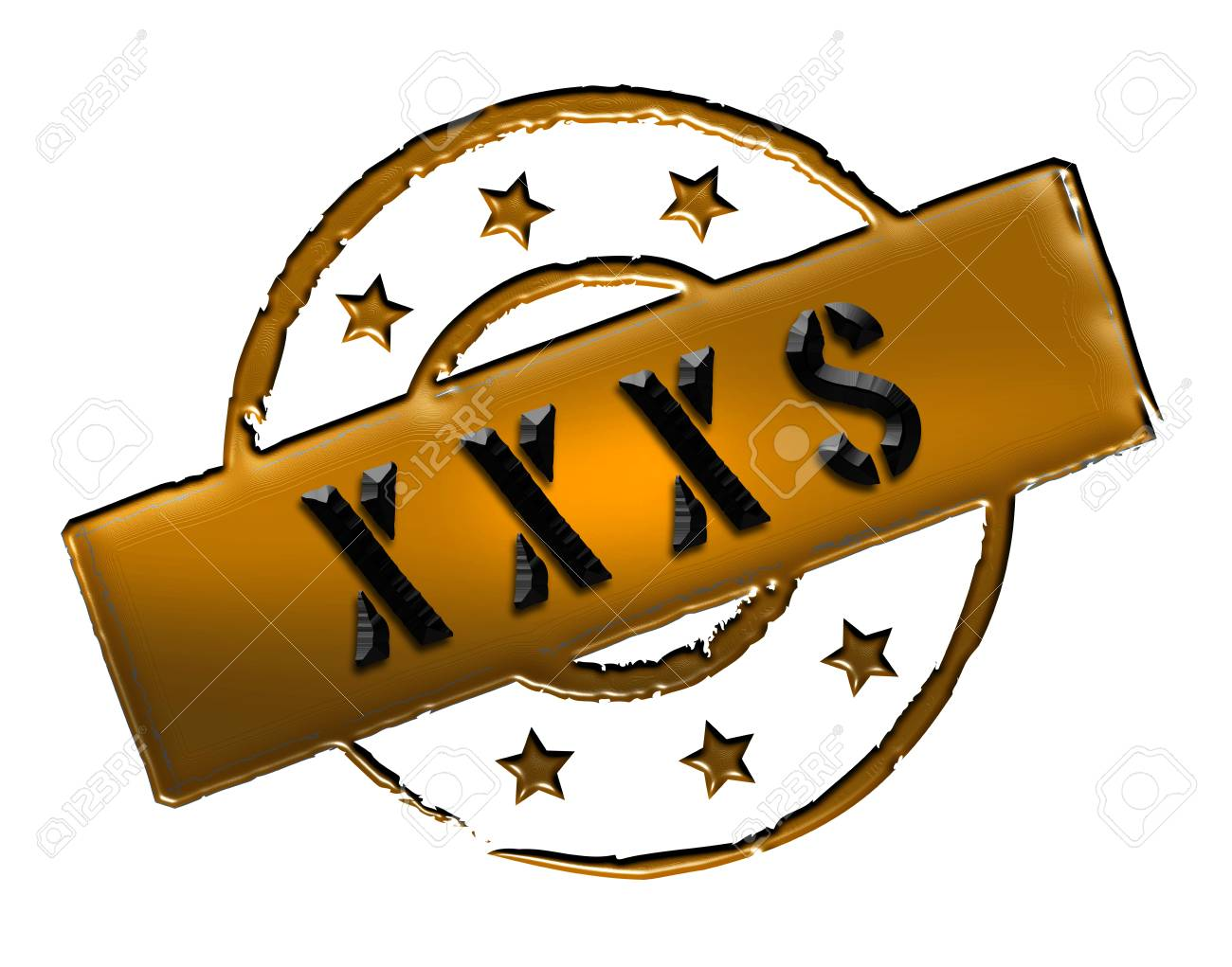 Sign, symbol, stamp or icon for your presentation, for websites and many more named XXXS Stock Photo - 13802188