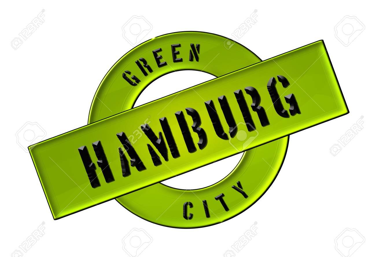 Green City Hamburg Zeichen Symbol Banner Fuer Prospekte Stock