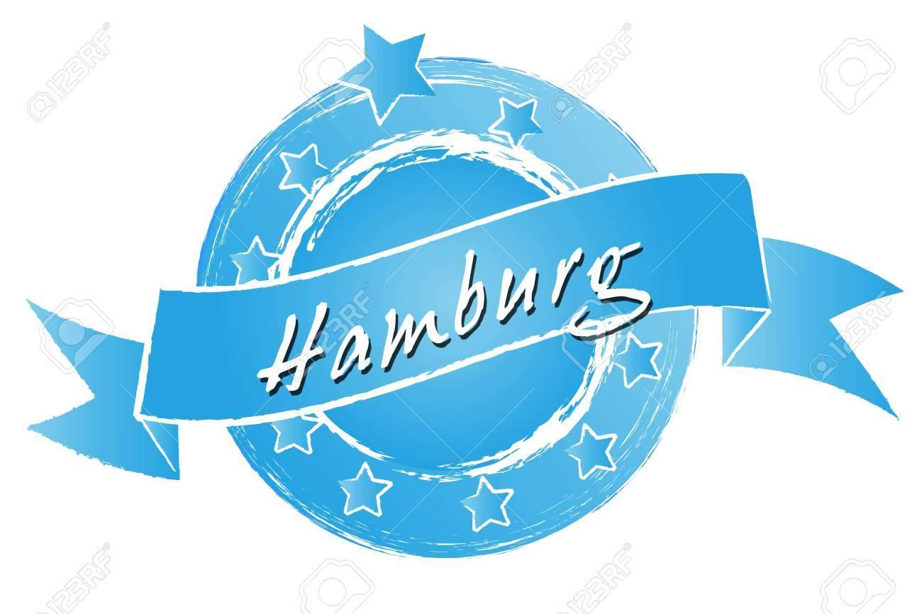 Hamburg Banner Logo Symbol Im Royal Grunge Style Fuer