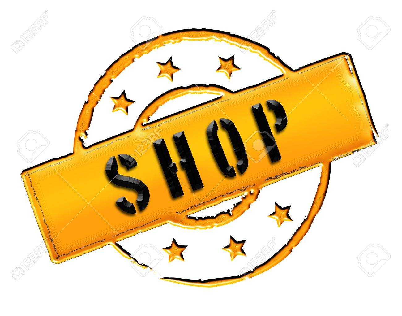 SHOP - Zeichen, Symbol im Retro Stil fuer Praesentationen, Prospekte, Internet, Stock Photo - 14614891