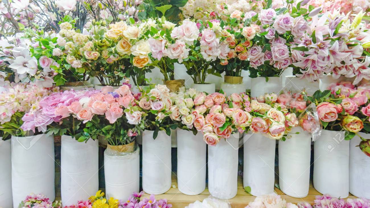 Colorful Flora And Other Flowers For The Bouquet Decoration In ...