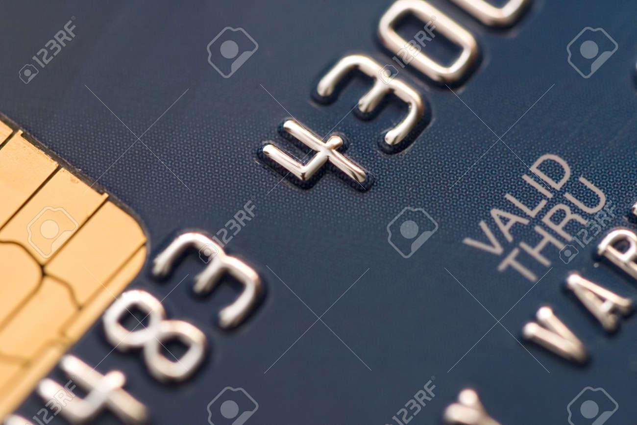 Credit card extreme close-up photo Stock Photo - 2186317
