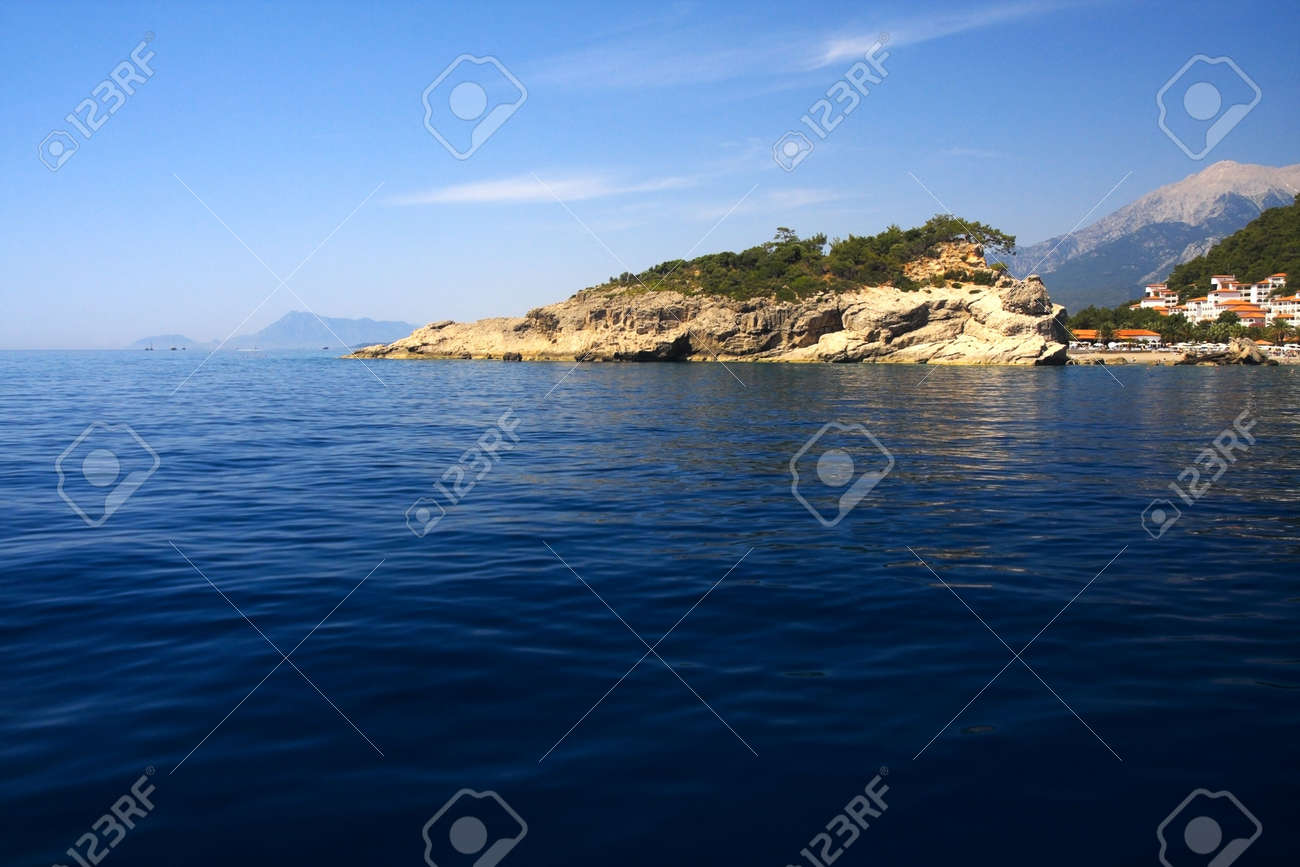 Mediterranean seascape in summer day. Mountains on background. Stock Photo - 5079050