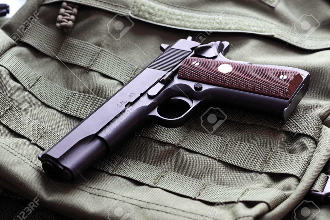 Semi-automatic M1911 Mark IV Series 80  45 caliber pistol