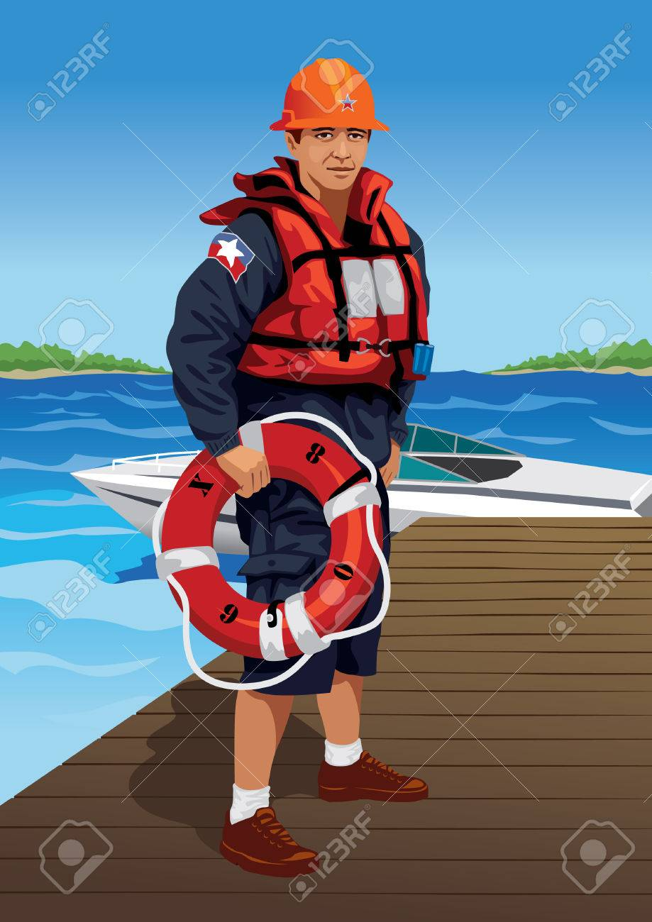 Profession set: lifeguard - Visit my gallery for more professions. Stock Vector - 4236078