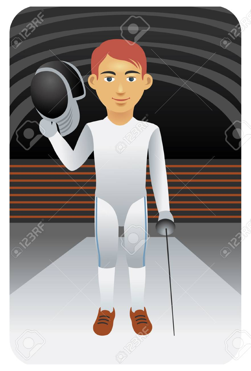 Sport series: Fencer - Vector EPS8. You can use any vector compatible software to open/modify/use the file. The different graphics are on separate layers so they can be easily edited individually. Scalable to any size without loss of quality. Stock Vector - 4515814