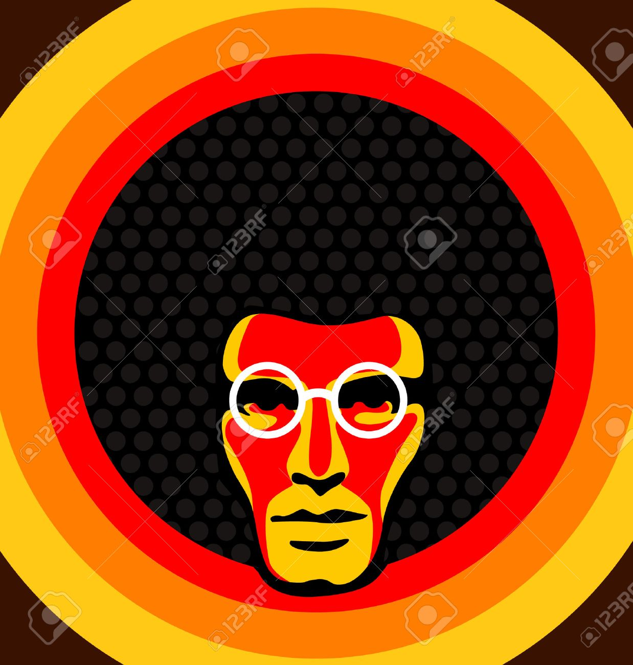 Afro Hair Vector of a male with afro hair
