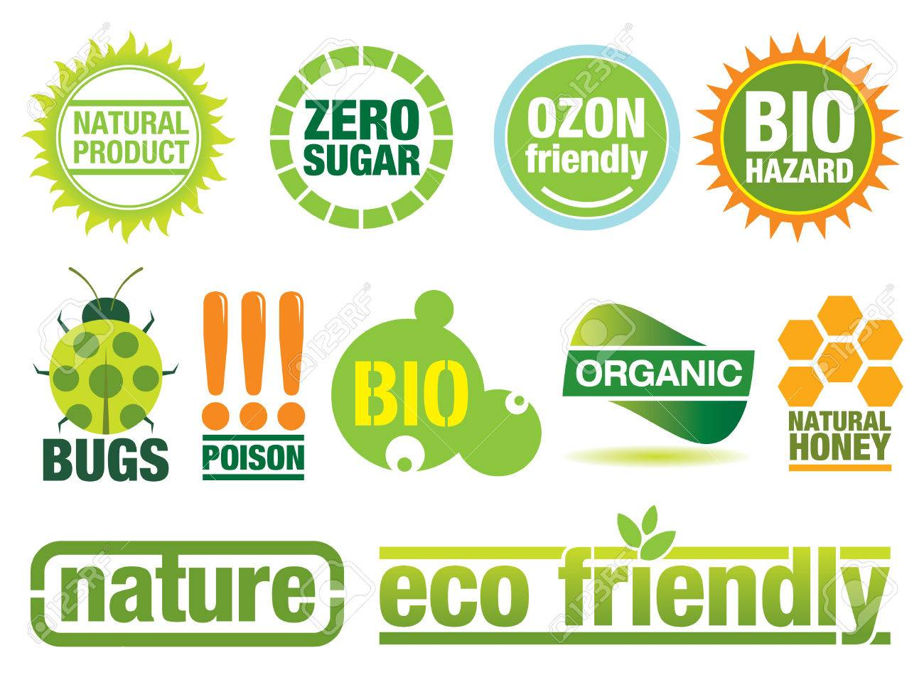 Ecology themed icon set. Use to create buttons, labels and brochures. Similar images in my portfolio. Stock Vector - 4939989