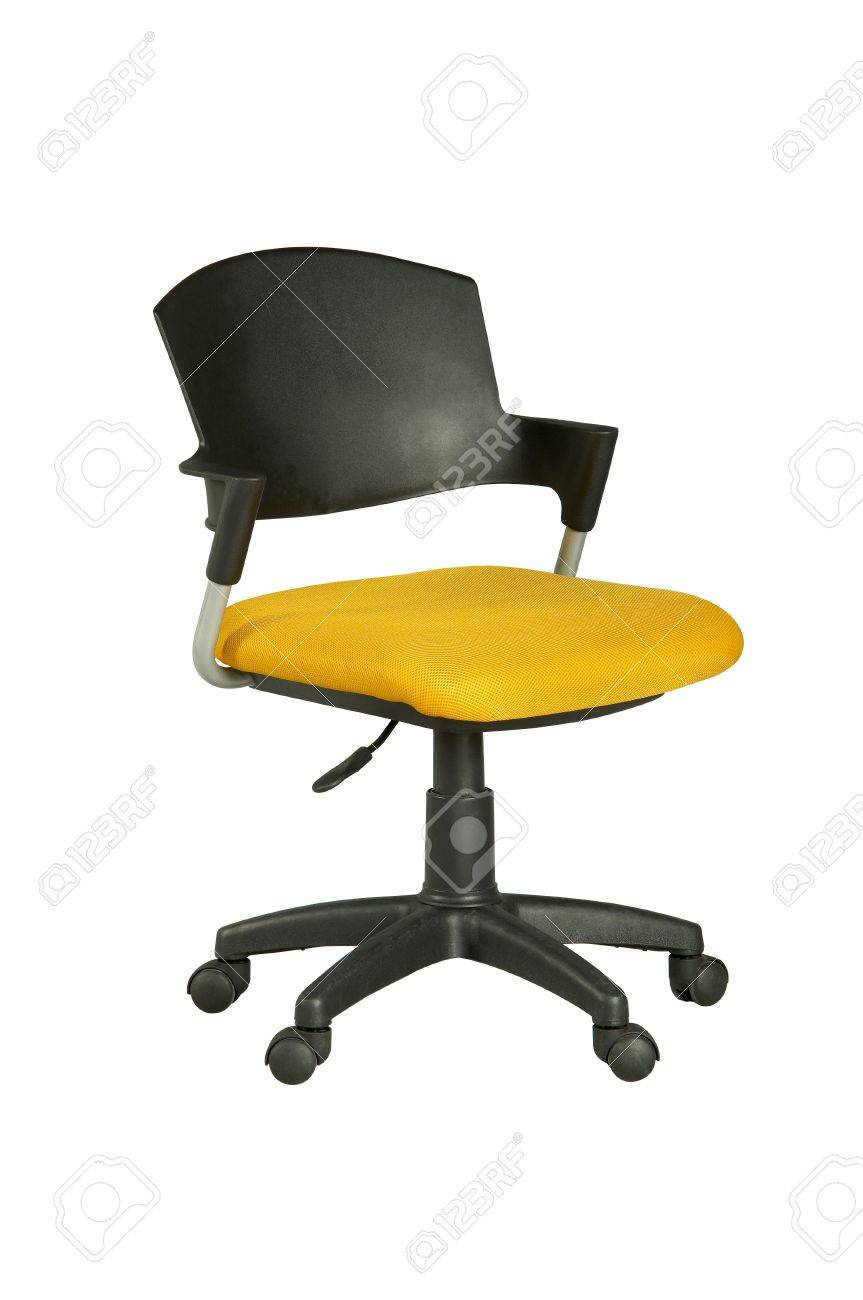stock photo yellow office chair without arms amazing yellow office chair